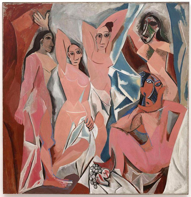 Pablo Picasso. Les Demoiselles d'Avignon, 1907. Olio su tela