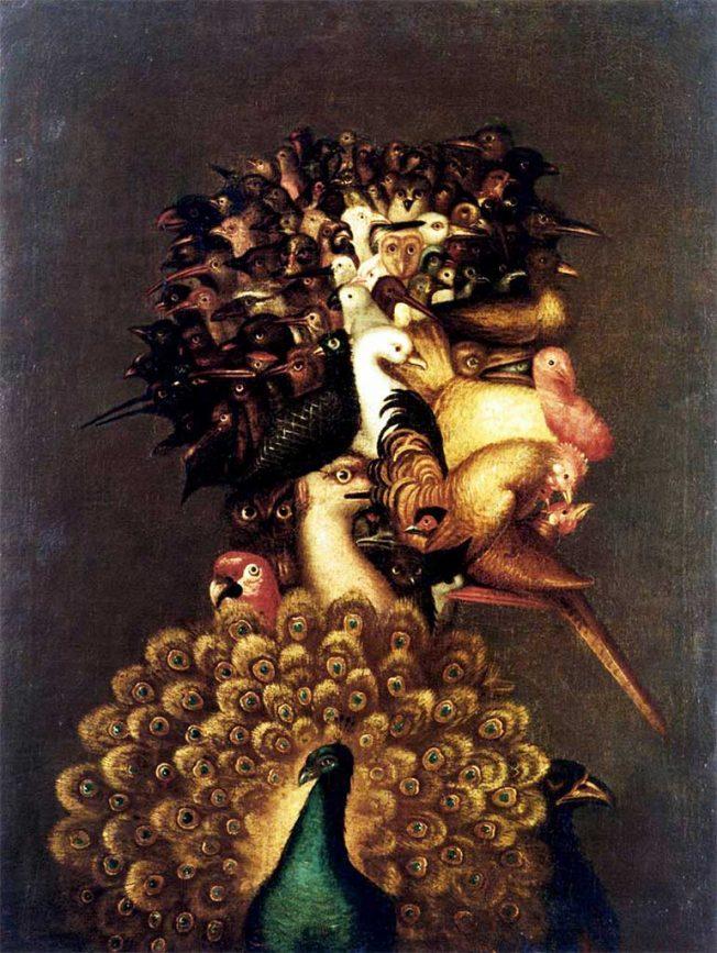 Arcimboldo. Aria, 1566. Tecnica: Olio su tela, 74.5 x 56 cm. Collezione privata