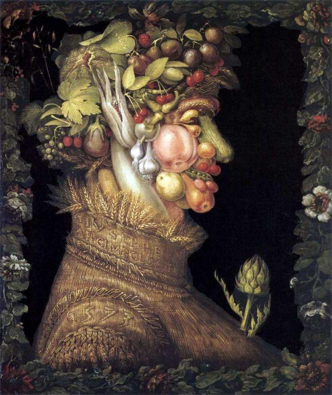 Giuseppe Arcimboldo. Estate 1563. Tecnica: Olio su pannello, 67 x 51 cm, Kunsthistorisches Museum, Vienna