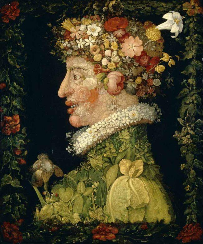 Arcimboldo. Primavera, 1563. Quattro Stagioni