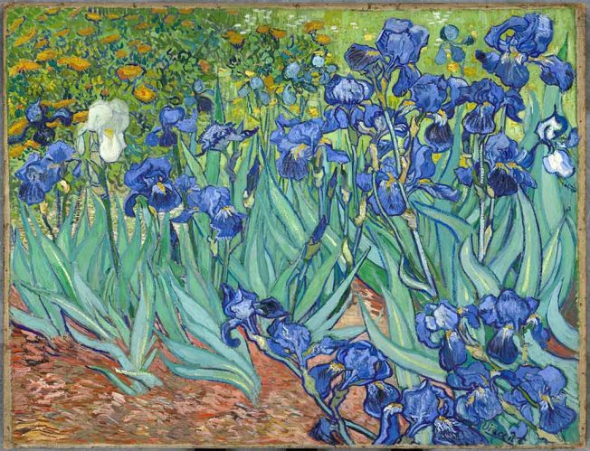 van Gogh. Iris, 1889. Tecnica: Olio su tela, 71×93 cm. J. Paul Getty Museum, Los Angeles