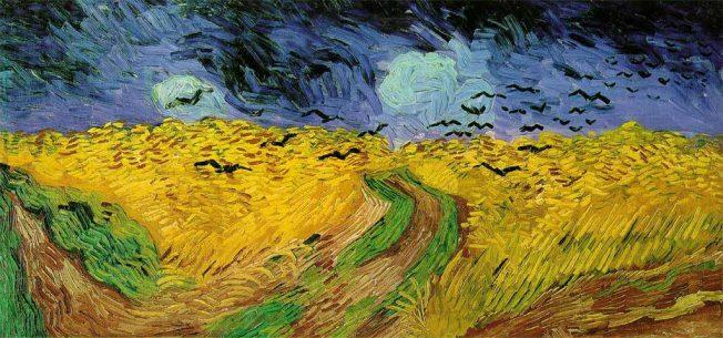 van Gogh. Campo di Grano con Corvi, 1890. Tecnica: Olio su tela, 50,5 x 100,5 cm. Van Gogh Museum, Amsterdam