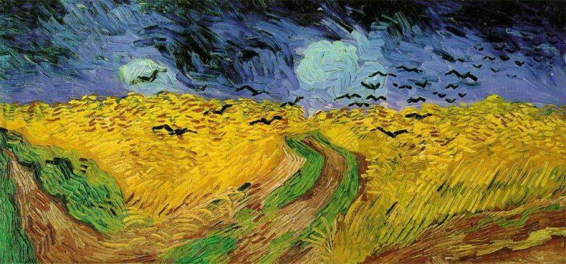 Vincent van Gogh. Campo di Grano con Corvi, 1890. Tecnica: Olio su tela, 50,5 x 100,5 cm. Van Gogh Museum, Amsterdam