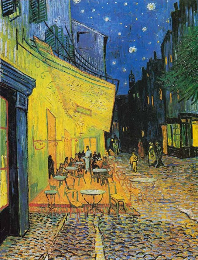 van Gogh. Il Caffè di Notte, 1888. Tecnica: Olio su tela, 80.7 cm × 65.3 cm. Kröller-Müller Museum, Otterlo