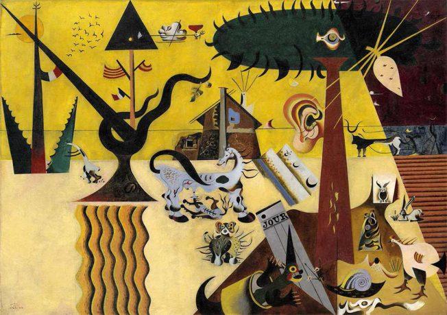 Mirò. Campo arato(terra arata), 1923-24. Tecnica: olio su tela, 66 x 92,7 cm. New York, Guggenheim Museum